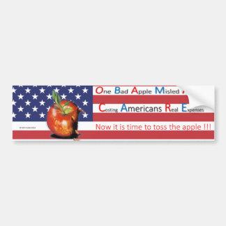 Cuidado de Obama: Un malo Apple engañó América Pegatina Para Coche