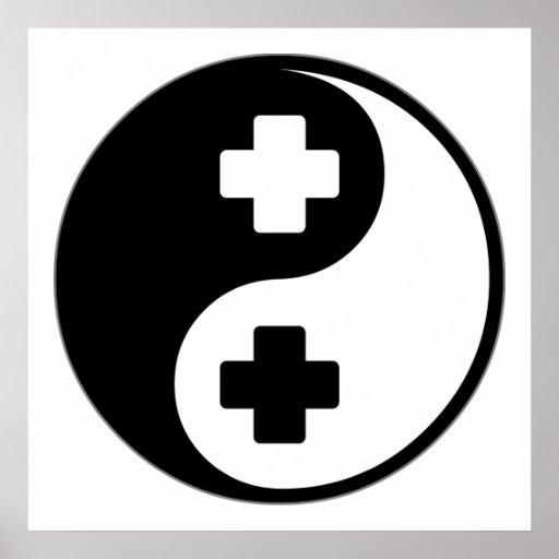 Cuidado de Yin Yang Poster