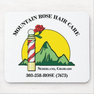 Cuidado del cabello del rosa de montaña, cojín de  alfombrilla de ratones
