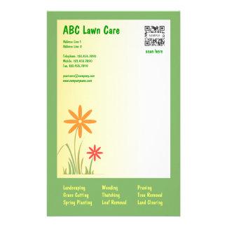 Cuidado del césped de ABC de la plantilla de los e Papelería De Diseño