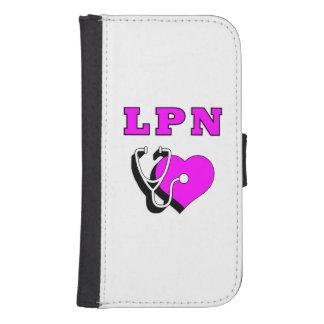 Cuidado del oficio de enfermera LPN Funda Tipo Billetera Para Galaxy S4