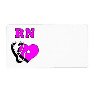Cuidado del RN de la enfermera Etiquetas De Envío