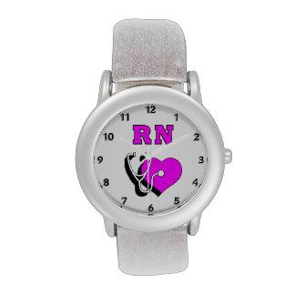 Cuidado del RN de la enfermera Reloj De Mano