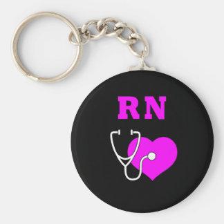 Cuidado del RN Llavero Personalizado
