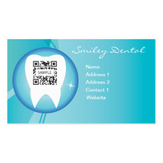 Cuidado dental de la plantilla de la tarjeta de vi tarjetas de visita