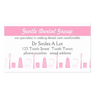 Cuidado dental tranquilo tarjeta de negocio