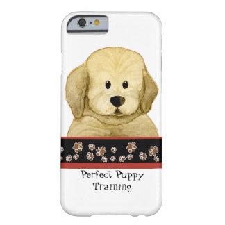 Cuidado lindo del perro del negocio del arte de la funda de iPhone 6 barely there
