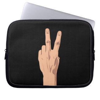 CUIDADO NO de gesto de la muestra de la mano del Mangas Computadora