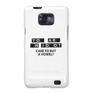 ¿Cuidado para comprar una vocal? Galaxy S2 Funda