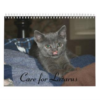 Cuidado para el calendario de Lazarus