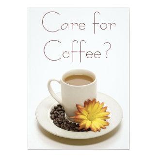 Cuidado para las invitaciones del café comunicados personalizados