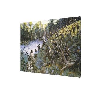 Cuidado Take Care Bushmaster with Bolo Gallery Wrapped Canvas