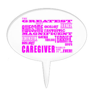 Cuidadores: Cuidador más grande rosado Figuras De Tarta