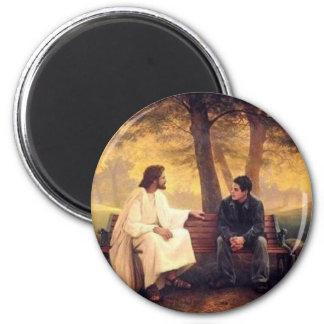 Cuidados de Jesús para mí Imán Redondo 5 Cm