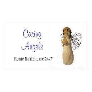 Cuidados de los ángeles que cuidan plantilla de tarjeta personal