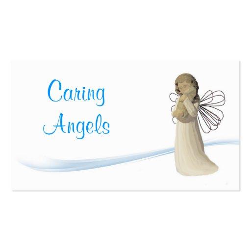 Cuidados de los ángeles que cuidan tarjetas de visita