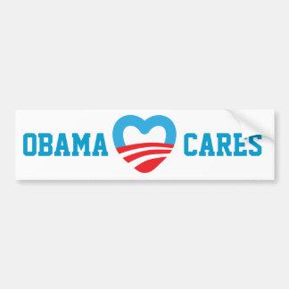 Cuidados de Obama Etiqueta De Parachoque