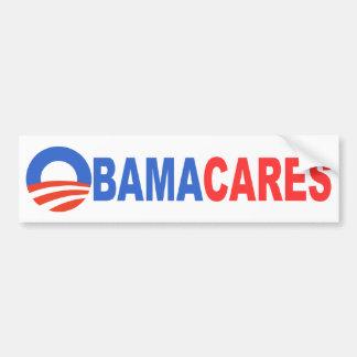 Cuidados de Obama Pegatina De Parachoque