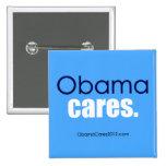 Cuidados de Obama, período. Botón cuadrado