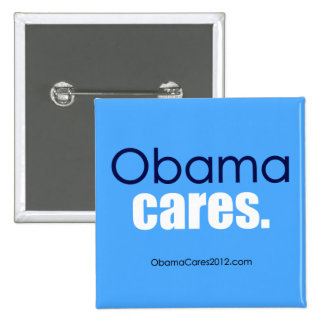 Cuidados de Obama, período. Botón cuadrado Pin Cuadrado