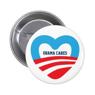 Cuidados de Obama Pin Redondo De 2 Pulgadas