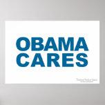 Cuidados de Obama Posters