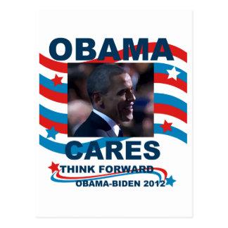 Cuidados de Obama Tarjetas Postales