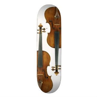 ¡Cuidadoso cómo usted camina en mi violín! Patines
