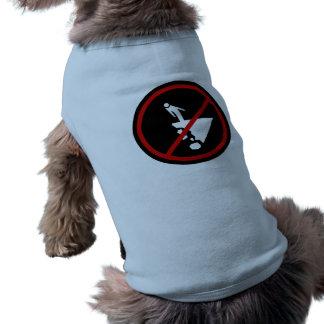 Cuidadoso con el acantilado que desmenuza, camiseta sin mangas para perro