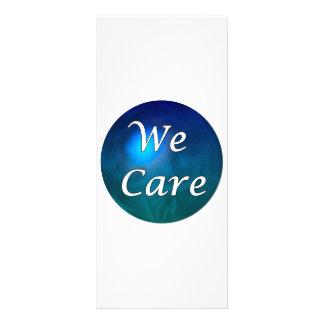 """¡""""Cuidamos"""" - muéstrele el cuidado, por cualquier  Diseño De Tarjeta Publicitaria"""