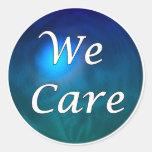 """¡""""Cuidamos"""" - muéstrele el cuidado, por cualquier Etiqueta Redonda"""