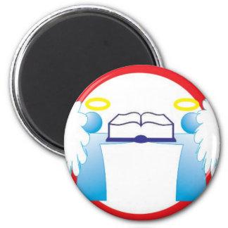 Cuide bem do livro anjinho sinal de transito 2 inch round magnet