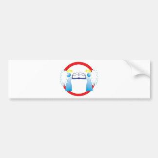 Cuide bem do livro anjinho sinal de transito bumper sticker