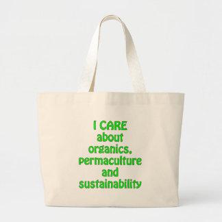 Cuido sobre la materia orgánica bolsa