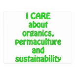 Cuido sobre la materia orgánica tarjeta postal