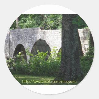 Cuivre River B ridge 7-9-09 Classic Round Sticker