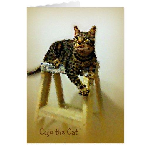 Cujo the Cat Impressionist Greeting Cards