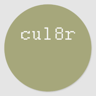 cul8r etiqueta redonda
