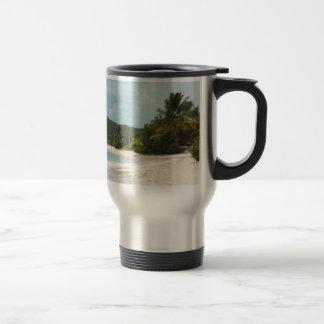 Culebra's Flamenco Beach Puerto Rico 15 Oz Stainless Steel Travel Mug
