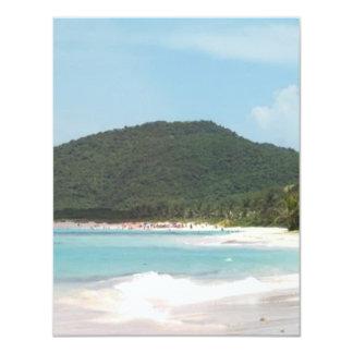Culebra's Flamenco Beach Puerto Rico Card