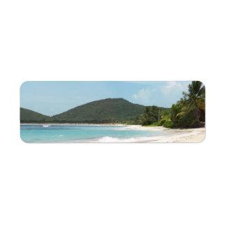 Culebra's Flamenco Beach Puerto Rico Label