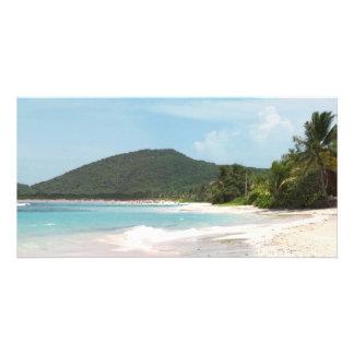 Culebra's Flamenco Beach Puerto Rico Personalized Photo Card