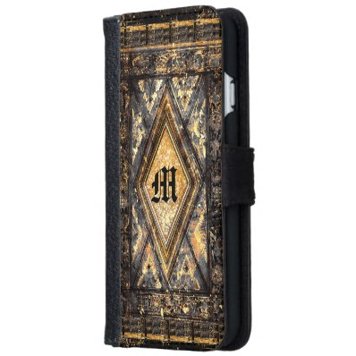 Culfoure Milon 6/6s Old Book Style  Monogram iPhone 6/6S Wallet Case