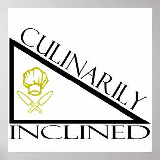 Culinario inclinado impresiones