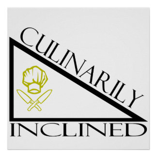 Culinario inclinado póster