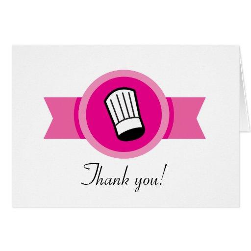 Culinarios muy profesionales le agradecen cardar felicitación