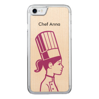 Culinary Baker Cake Decorator Chef Carved iPhone 7 Case
