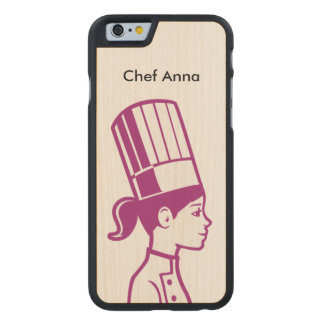 Culinary Baker Cake Decorator Chef Carved Maple iPhone 6 Slim Case