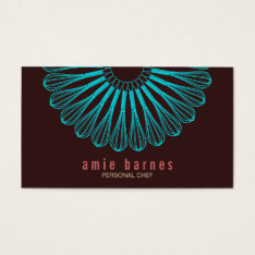 Culinary Chef Blue Whisk Logo Brown Business Card at Zazzle