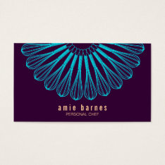 Culinary Chef Blue Whisk Logo Purple Catering Business Card at Zazzle